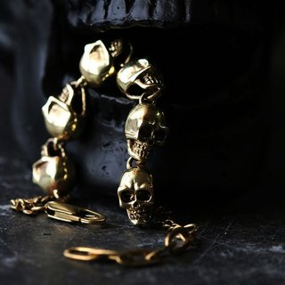 Human Skulls Charm Bracelet - Original design and made by Defy.