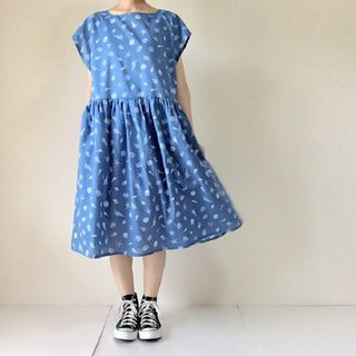 Sea and summer Seashell dress blue