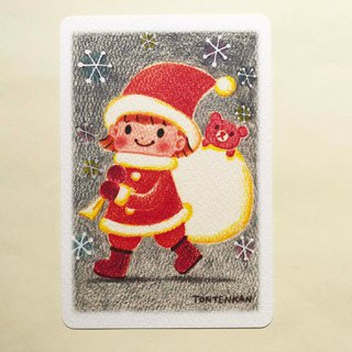 Children Santa girls postcard no.189