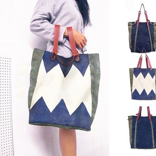 Convertible Bodega Tote, Backpack - Zig Zag