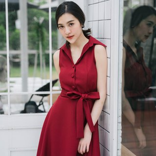 Shirt Dress Vintage Modern Dress Retro Style Summer Dress Handmade Dress