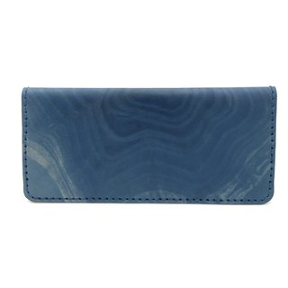 "Long Wallet dyed indigo ""NATURAL EFFECT"""