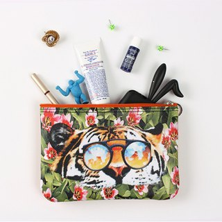 STILL AND CHEW Pouch 化妆包 - TIGER OVER FLOWER