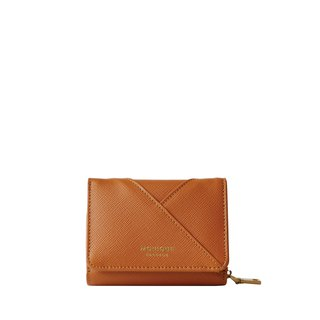 Ellie Mini Wallet in Tan Saffiano Leather