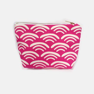 小钱包 Coin Purse, Small Zip Bag - Wave and Smile Pink