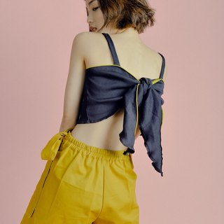Yellow ribbon skirt.