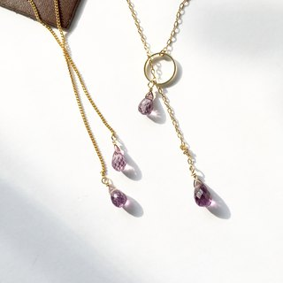 Corundum QUARTZ lariette necklace and chain earring