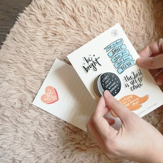 Quotes & Words Stickers+Postcard / 励志名信片加贴纸组