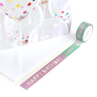 Happy Birthday washi tape - Colorful decoration tape with cutout letters