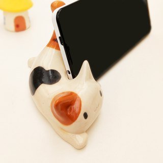 Hello from the side of a tiger's cat's smartphone stand smaho