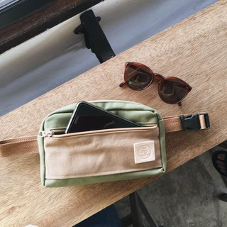belt bag brown and army green colour