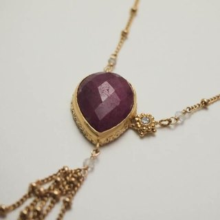 moonlight necklace gd ruby ​​【FN 221】
