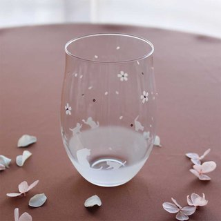 【Cherry Blossom Season】 Cat motif tumbler glass vol.5