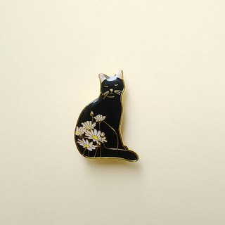 Summer Daisy Cat Enamel Pin, Badge, Brooch, Pin, Accessories