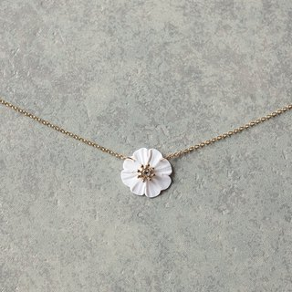 One flower necklace / white