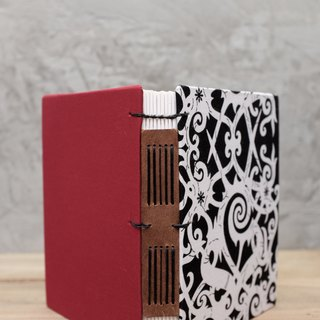 Handcrafted Hardcover Book 7.5 X 5.5 inches - Borneo fabric