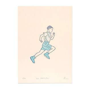Run Forrest Run - 5x7 Letterpress Print | Limited Edition of 50