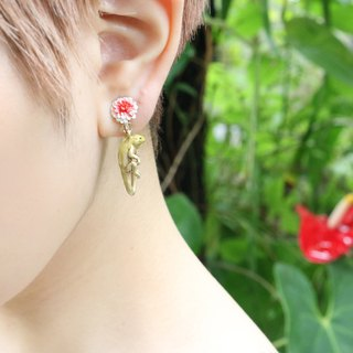 Iguana earring / Iguana earrings EA086