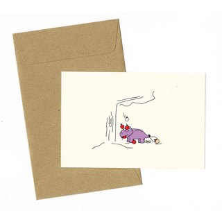 Dinosaur Apple picking Card with envelope