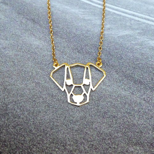 Jack Russel Terrier, Geometric, Dog Necklace, Pet Jewelry, Pet mom, Dog Gifts