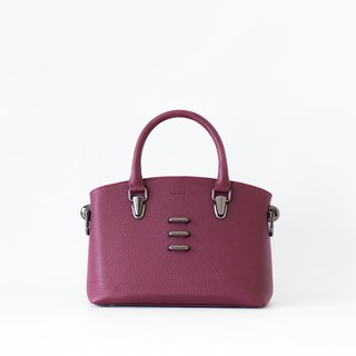 DEAR - DARK MAROON STRUCTURED HANDBAG