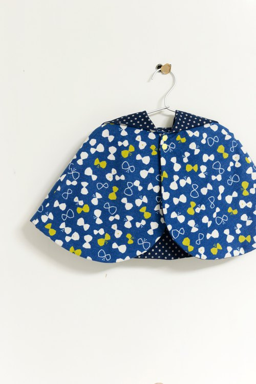 RIBBON BUTTERFLY KIDDO PONCHO WITH HAT *V2