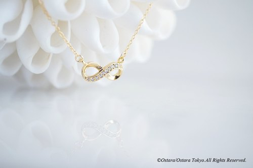 【14 KGF】 Necklace, Infinity LOVE