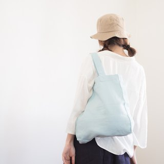 Casual Linen Tote Bag (Sky Blue)