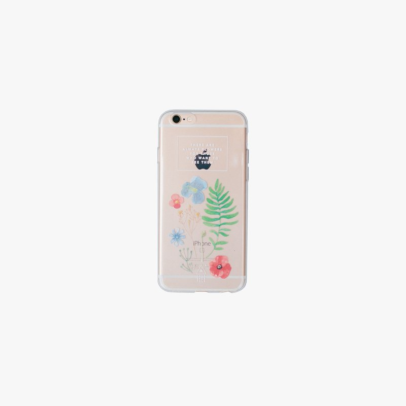 WILD FLOWERS JELLY PHONE CASE - IPHONE 6+ & 6S+
