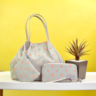 goody bag -Tote and Wallet peach set