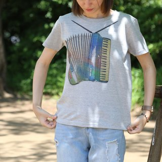 Printed Rainbow-Accordion T-shirt - Gray - women's / men's / unisex