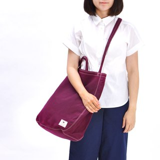 Oversize Tote Bag - deep red