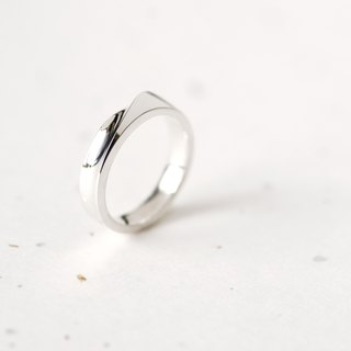 Twisted ring silver 925