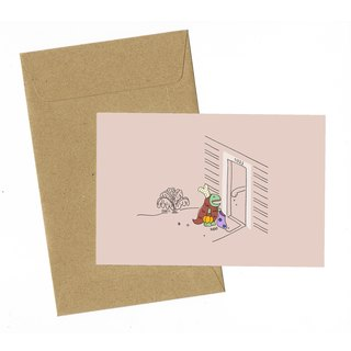 Dinosaur Drumstick Halloween Costume Card with envelope
