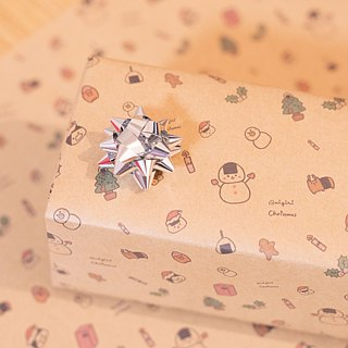 【Christmas】 wrapping paper 3 pieces set