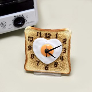 Heart egg toast clock / Imitation food table clock / made in Japan / RealGift /