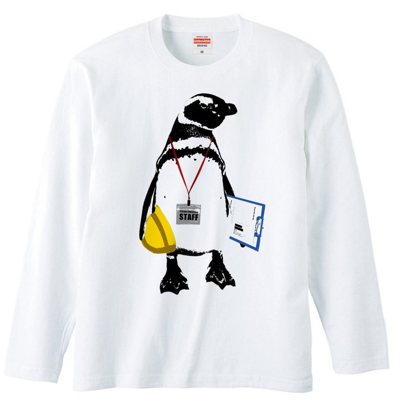 [Long sleeve T-shirt] STAFF Penguin