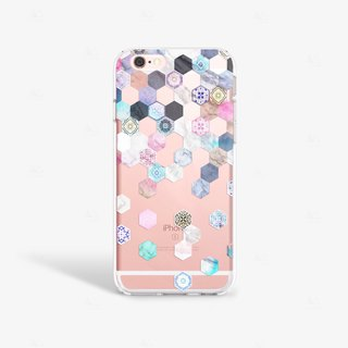 Hexagon iPhone 7 Case Clear iPhone 8 Case Clear iPhone 7 Plus Case iPhone 6S