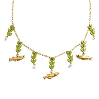 River of Rice fish Necklace Necka no River Necklace NE 387