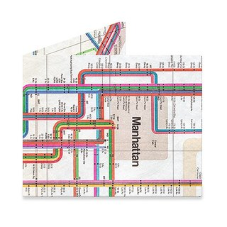 Mighty Wallet(R) 纸皮夹_Vignelli Subway Map