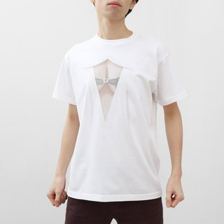 <Now on sale for a limited time! > Mousou See-through T-shirt/ MESH WHITE/ M size