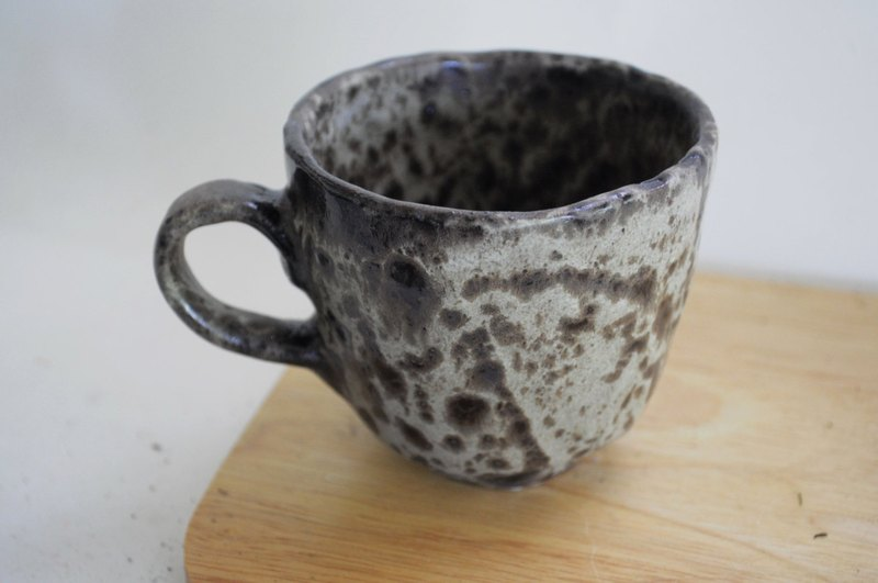 black grey mug, 6 oz.