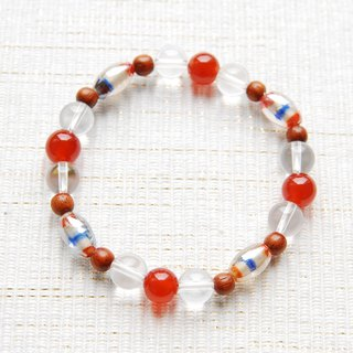 Striped Indian bead bracelet orange