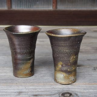 Bizen wheat drinking (middle) via mug set (with paulownia box) bs2-004