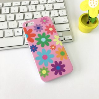香港原创设计 粉红色花朵图案 iPhone X,  iPhone 8,  iPhone 8 Plus,  iPhone 7, iPhone 7 Plus, iphone 6/6S , iphone 6/6S PLUS, Samsung Galaxy Note 7 透明手机壳