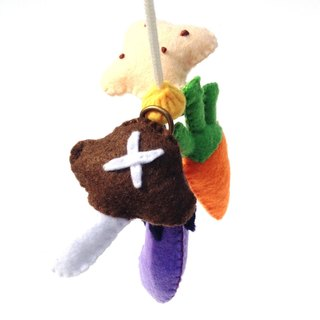 Felt vegetables fishing set educational toys goods child gift