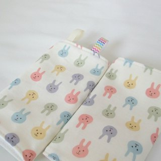 DROOL PADS, 口巾布, Ergo, Baby Carrier, Colorful Bunny, Japanese Cotton