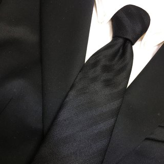black regimental tie necktie