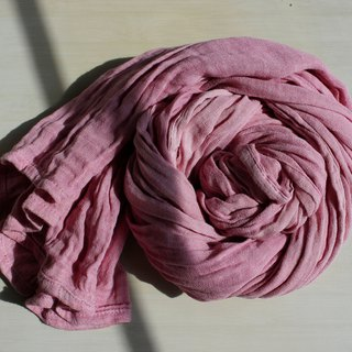์Natural dye collagen scarf- Shellac(deep pink)