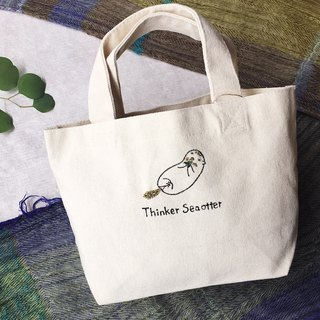 mini totebag 【Thinker sea otter 】